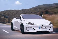 Types cars: Tesla Model S Looks Pretty Sleek As A Convertible Tesla Electric Car, Electric Cars, Electric Vehicle, Tesla Motors, Us Cars, Sport Cars, My Dream Car, Dream Cars, Tesla Spacex