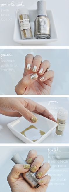 caviar nails with beads from micheals craft store!!