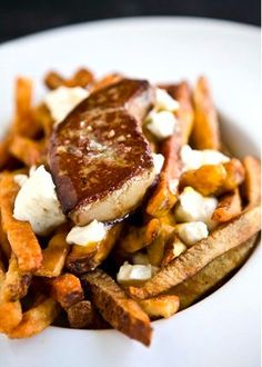 foie gras poutine - heaven in a heart attack