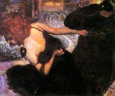 Dance of Death, 1896, Museum Georg Schäfer, Schweinfurt, Bavaria, Germany - by Max Slevogt (1868 - 1932), German