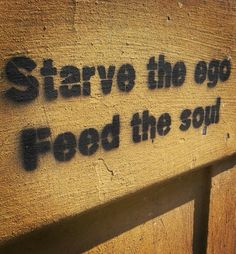 Starve the ego, feed the soul. #streetart #Prague