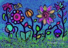 Here Today Gone Tomorrow by Caroline Street Daisy Art, Gone Tomorrow, Plant Art, All Wall, Flower Art, Fine Art America, Original Art, Greeting Cards, Gardens