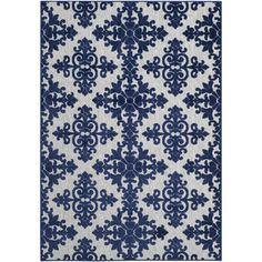 Anchor your patio or define a space in your master suite with this lovely rug, showcasing a damask diamond motif for eye-catching appeal.Featu...
