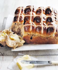 One a penny, two a penny, hot cross buns! With clots of butter to boot.