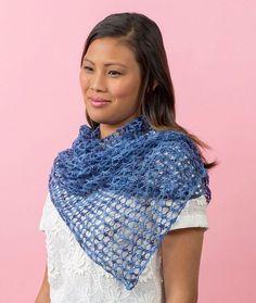Laid-Back Shawl Free Knitting Pattern in Red Heart Heart & Sole yarn