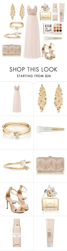 """Без названия #3586"" by southerncomfort ❤ liked on Polyvore featuring Badgley Mischka, Loren Stewart, Paul & Joe, WWAKE, L.K.Bennett, Marc Jacobs, Carven and Dr. Dennis Gross Skincare"