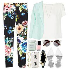 floral / colorpants
