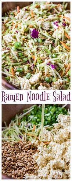 Ramen Noodle Salad via @sugarspunrun