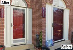 ProVia Heritage Fiberglass Door, Deluxe Full View Storm Door With Vented  Bottom Screen. Laurel