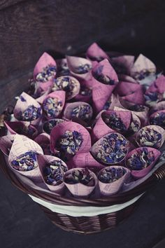 Dried flower confetti - A Colourful Festival Wedding / Willow & Lace