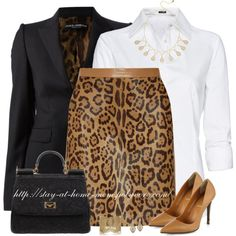 """""""VALENTINO Leopard Print Skirt"""" by stay-at-home-mom on Polyvore"""