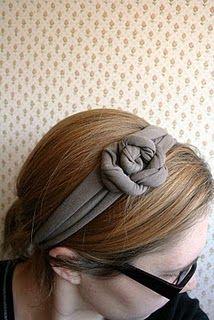 Tutorial for T-Shirt Flower Headband. Love it!