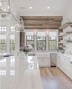24 Awesome Modern Farmhouse Style Kitchen Makeover Decor Ideas