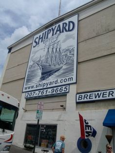 Shipyard Brewery in Portland, Maine Remember The Time, Shop Fronts, Portland Maine, Beer Bar, Cozy Cottage, Us Travel, Road Trips, Craft Beer, Brewery