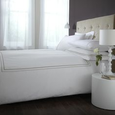 Bedding set from Clairecorkinteriors. http://clairecorkinteriors.co.uk/shop/bed-linen-throws/richmond-double-duvet-bed-set-white/