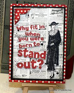 crafty goodies: Stand Out by Darkroom Door
