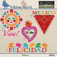 DIGITAL DOWNLOAD ... Mexican Vectors in AI, EPS, GSD, & SVG formats @ My Vinyl Designer #myvinyldesigner #bluebird