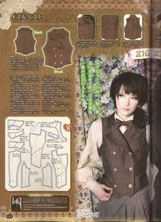 (699×960) Lolita Sewing Pattern Ouji style
