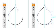 4 simple shapes in Illustrator - create the perfect drop shape.