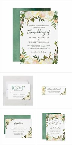Greenery Wild Ivory Floral Themed Design Greenery Wild Ivory Floral Themed Invitations, Cards, Stationery and more. Wedding invites - customize your weddings invitations / products. Christmas Wedding Invitations, Mason Jar Wedding Invitations, Modern Wedding Invitations, Floral Wedding Invitations, Wedding Stationery, Invites, Floral Save The Dates, Watercolor Wedding Invitations, Wedding Place Cards