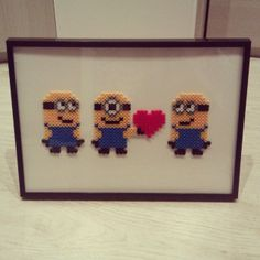 Framed Minions hama beads by andregari