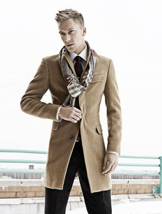 camel overcoat - from Burberry