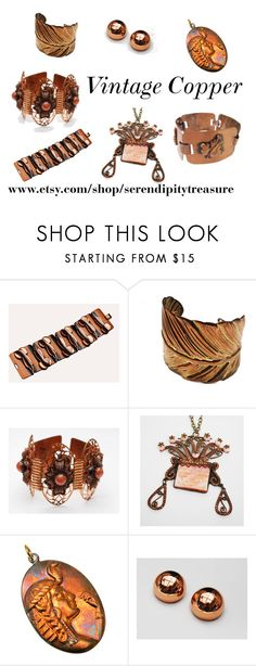 """Vintage Copper"" by cindydcooley ❤ liked on Polyvore featuring vintage"