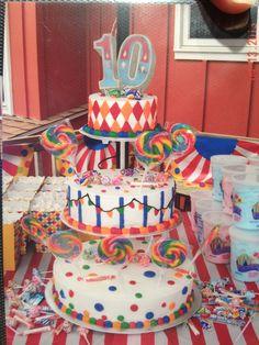 Carnival cake by Karen's Kaykes