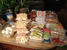 Healthy meal and snack options prepped for two weeks. Prepping ahead of time makes each day so much easier.