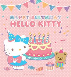 The Official Home of Hello Kitty & Friends - Sanrio Happy Birthday Images, Happy Birthday Cards, Birthday Greetings, Birthday Wishes, Birthday Messages, Sanrio Wallpaper, Hello Kitty Wallpaper, Hello Kitty Birthday, Cat Birthday