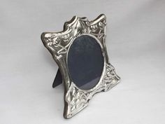 VINTAGE ART NOUVEAU STYLE SOLID SILVER STERLING PHOTO PICTURE FRAME LONDON 1986