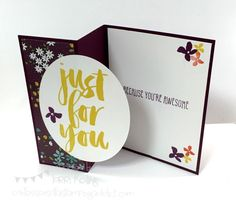 Botanicals for You Sale a Bration Card :: Confessions of a Stamping Addict Lorri Heiling CASED Kelly Acheson