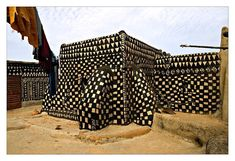 The Gurunsi (Kassena) tribe live in fortified houses in the Tiebélé region on the border of Burkina Faso and Ghana.