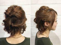ショートヘアのためのヘアアレンジ♪くるりんぱでできる簡単アレンジ|ヘア|岡本泰明 | 岡本 泰明