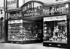 Lovely old toy shop in Doncaster, Yorkshire, now long gone.