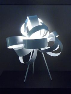 Ribbon free standing lamp #ribbons #interiordesign #lighting