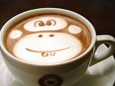 Monkey Latte. Haha! Cute(: