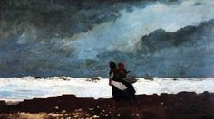 European & American Art | Denver Art Museum | Winslow Homer. American, 1836-1910. Two Figures by the Sea. 1882, Oil paint on canvas. Funds from Helen Dill bequest, 1935.8