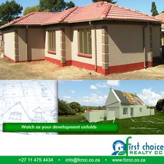 Development by First Choice Realty, Sharon Park Lifestyle Estate, Springs. We offer packages that caters for the budget and needs of all housing consumers. Visit our Website: ‪ ‪ ‪ 3 Bedroom Plan, Close Proximity, First Choice, Pretoria, Tuscan Style, Affordable Housing, Schools, Budgeting, Investing