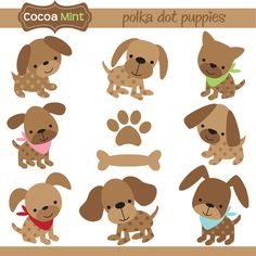 polka dot puppies by cocoa mint
