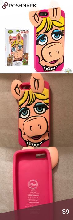 iPhone 5 case Miss Piggy Muppets iPhone 5 case is three dimensional with Piggy's snout extending above case Accessories