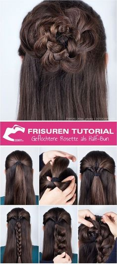 Messy hair daily beauty secrets frisuren tutorial geflochtene rosette als half bun frisuren trend frisuren solutioingenieria Choice Image