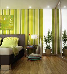 Grüne Wandgestaltung Für Schlafzimmer Inspirierendes Aussehen