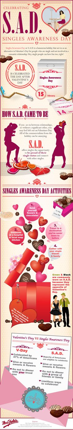 Are you happy to be single this Valentine's Day? A lot of people are! Check out this infographic about Singles Awareness Day