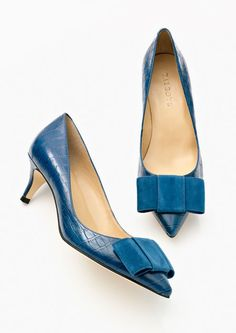 Just bought these in a different color and they are the most comfortable shoes ever! Madison croc embossed pumps Talbots Fall 2014