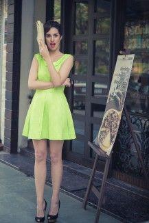 Flashy Neon Green Dress  Rs. 5,000