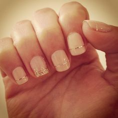 light gray with gold stripe nail - Sök på Google