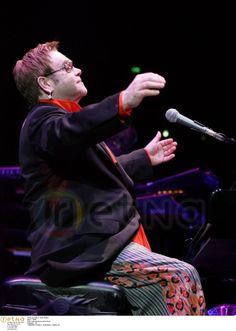 May 7, 2005 Elton John performs at the Pond