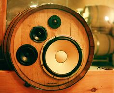 BoomCase + Wine Barrels + Wireless + Wine Cave = Custom Benziger Wine Barrels turned into a completely Wireless amazing speaker system . The barrels sync to each other when turned on - then plug di...