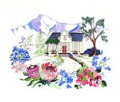 Buy Cape Dutch Garden Embroidery Kit Online at www.sewandso.co.uk